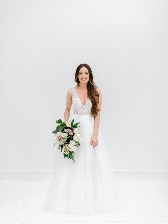 Macy | All White Bridal Session - Jennefer Wilson Photography